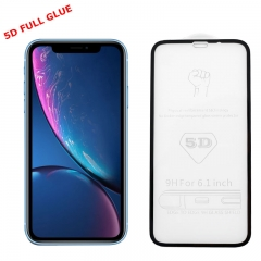 Tempered Glass i-Phone XR 6.1 Full Glue 5D Black